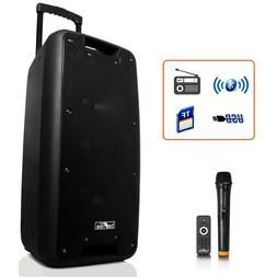 """10"""" BLUETOOTH PORTABLE PA PARTY SPEAKER SYSTEM WIRELESS MIC"""