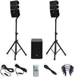 AKUSTIK 12 Inch 3000 Watt DJ Powered PA Speaker System Combo