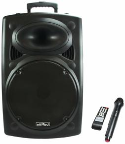 "BEFREE SOUND 15"" 900W BLUETOOTH PORTABLE PA DJ PARTY SPEAKER"