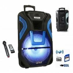 """beFree Sound 15""""RECHARGEABLE Bluetooth PARTY DJ PA Speaker S"""