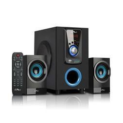 beFree Sound 2.1 Channel Surround Sound Speaker System w Blu