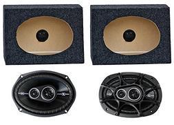 """2) Kicker 41DSC6934 6x9"""" 360W Car Speakers + 2) QTW6X9 Angle"""