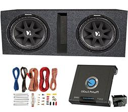 "Kicker 2 10C124 600 Watt 12"" Subwoofers + Ported Box Enclosu"