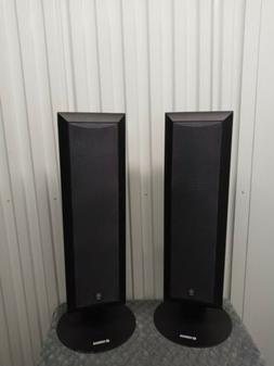 "2 YAMAHA SPEAKER SYSTEM MODEL NS-AP9500MBL 27"" Tall W Stand"