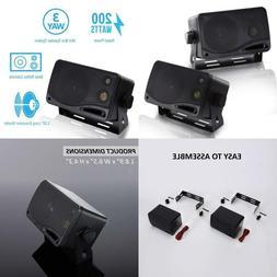 Pyramid 2022Sx 200-Watt 3-Way Mini Box Speaker System