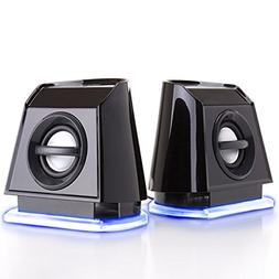 GOgroove 2MX LED Computer Speakers  with Powered Subwoofer a
