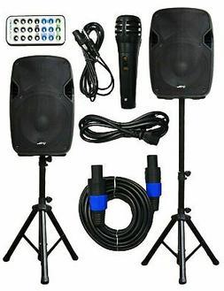 """2x Ignite Pro 10"""" Pro Series Speaker DJ PA System Bluetooth"""