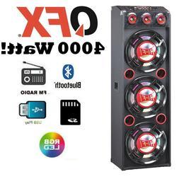 "QFX 3 12"" PA Speaker System 4000W Bluetooth USB SD Player FM"