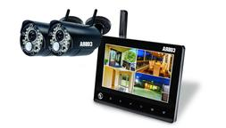 4 Channel Wireless Surveillance System 2 Cameras Security Mo