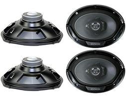 """4) New Kenwood KFC-6965S 6x9"""" 800 Watt 3-Way Car Audio Coaxi"""