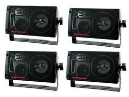 4) NEW PYRAMID 2060 600W 3-Way Car Audio Mini Box Speakers S