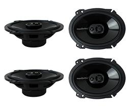 "4) New Rockford Fosgate P1683 6x8"" 260 Watt 3 Way Car Coaxia"