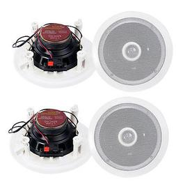 "4) Pyle 6.5"" 500W 2 Way Round In Wall/Ceiling Home Speakers"
