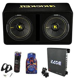 "Kicker 44DCWC122 12"" 1200W Car Subwoofers Sub Enclosure + Am"
