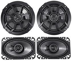 "KICKER 43CSC654 6.5"" 300w Car Audio Speakers+ 43CSC464 4x6"""