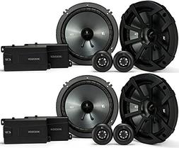 "KICKER 43CSS654 6.5"" 6-1/2"" 1200 Watt 4-Ohm Car Audio Compo"