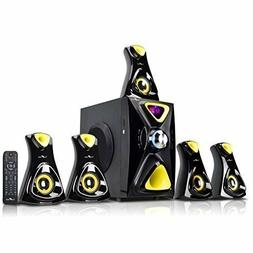 beFree Sound 5.1 Channel Yellow Surround Sound Bluetooth Spe