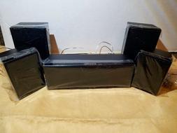 5 Piece Samsung Surround Sound Speaker System Center Front &