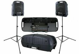 500 watt portable pa system w two