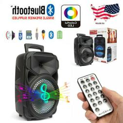 8'' Bluetooth Party Portable Speaker Subwoofer Heavy Bass So