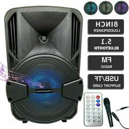 8 portable fm bluetooth speaker 1000w subwoofer