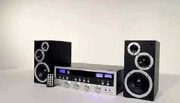 Home Stereo System W Bluetooth CD Player FM Radio Streams 33
