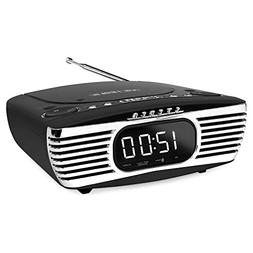 Victrola Bedside Digital LED Alarm Clock Stereo with CD Play