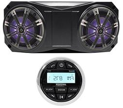 "Kicker Bluetooth Receiver+ 6.5"" Overhead Rollbar LED Speaker"