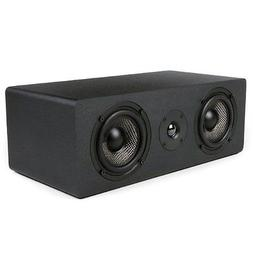 Micca MB42X-C Center Channel Speaker With Dual 4-Inch Carbon