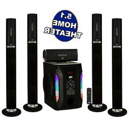 """Acoustic Audio AAT1002 Tower 5.1 Home Speaker System with 8"""""""