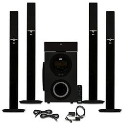 Acoustic Audio AAT3003 Tower 5.1 Bluetooth Speaker System wi