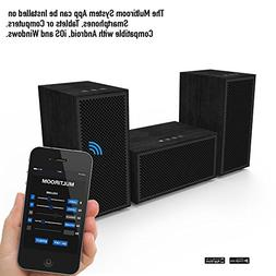 Multiroom Audio System - 3 Speaker Package - Includes 1 Mast