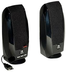 Black Logitech S150 USB Speakers with Digital Sound, New,