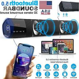 Bluetooth Wireless Surround Sound Bar System 4 Speaker Home