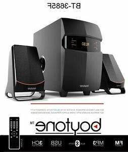 boytone BT-3107F 2.1 Speaker System - 14 W RMS - Wireless Sp