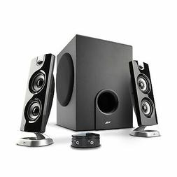 Cyber Acoustics CA-3602FFP 2.1 Speaker Sound System with Sub