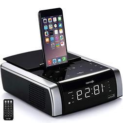 dpnao iPhone Docking Station Alarm Clock Radio Bluetooth Wir