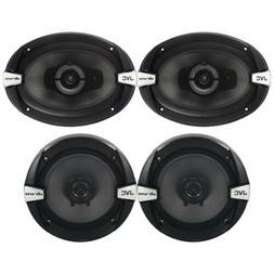 """JVC  6""""x9"""" 3-Way + 6.5"""" 300W Car Audio Speakers System - 4 S"""
