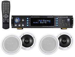 Commercial Ceiling Speaker System+Bluetooth Amp/Receiver 4