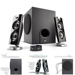 Computer Desktop Speakers With Subwoofer Perfect 2.1 Games a
