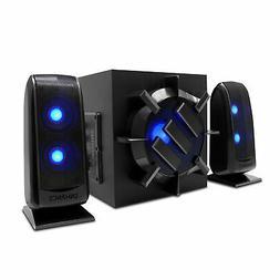Computer Speaker Sound System - 2.1 Subwoofer with 80W Peak,