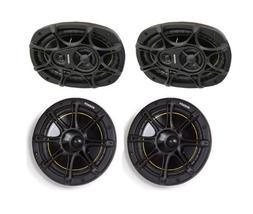 "NEW KICKER DS693 6x9"" 280W 3-Way Car Speakers + DS65 6.5"" 2-"