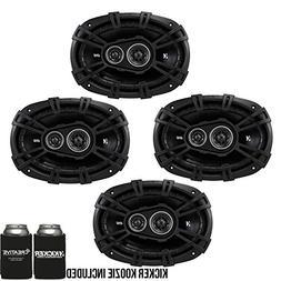 KICKER DSC6930 6x9-Inch  3-Way Speakers, 4-Ohm Bundle