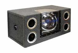 "Pyramid Dual 12"" 1200 Watt Bandpass Speaker System w/Neon Ac"