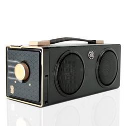 GOgroove Portable Boombox Retro Stereo Rechargeable Speaker