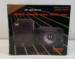Pyramid Gold Series Bass Reflex 2 Way Speaker System MODEL 4