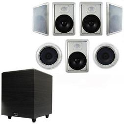 """Acoustic Audio HT-87 In-Wall/Ceiling 7.1 Home Theater 8"""" Spe"""