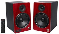 """Rockville HTS8C Pair 8"""" 1000W Powered Home Theater Speakers"""