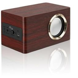 iLive ISB135RW Portable Wireless Bluetooth Wooden Speaker.
