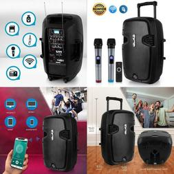 Karaoke Portable PA Speaker System - 1000W Active Powered Wi